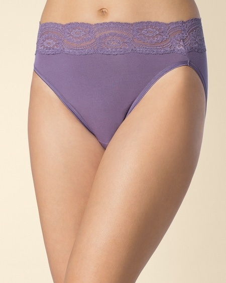 Embraceable Super Soft Lace High Leg Brief