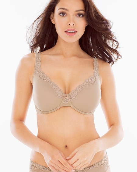 Unlined Lace Trim Bra