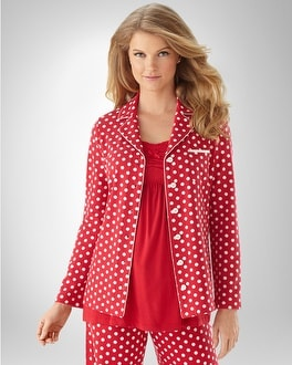 Embraceable Big Dot Ravishing Red/Ivory PJ Top