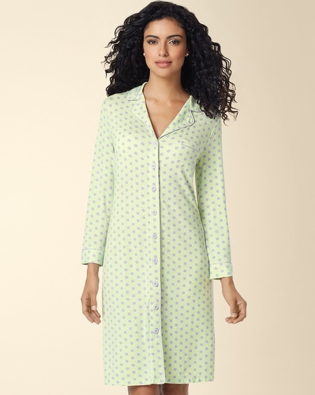 Boyfriend Sleepshirt Big Dot Pistachio