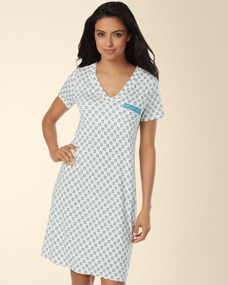 V-Neck Sleepshirt Rhythmic Geo