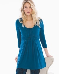 Live. Lounge. Wear. Soft Jersey Wrapped Waist Tunic Poseidon