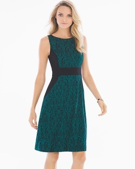 Sleeveless A-line Short Dress Splendor Deep Teal