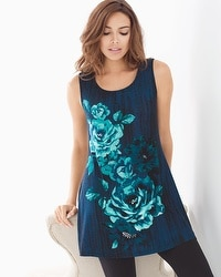 Live.Lounge.Wear. Sleeveless Soft Jersey Scoopneck Swing Tunic LYRIC FLOR