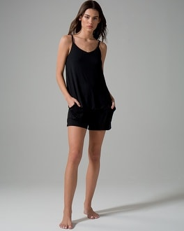 Cool Nights Pajama Shorts Black