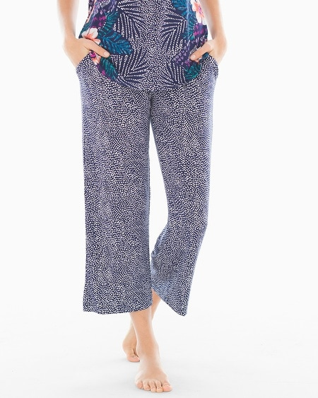 Crop Pajama Pants Bali Dot Navy