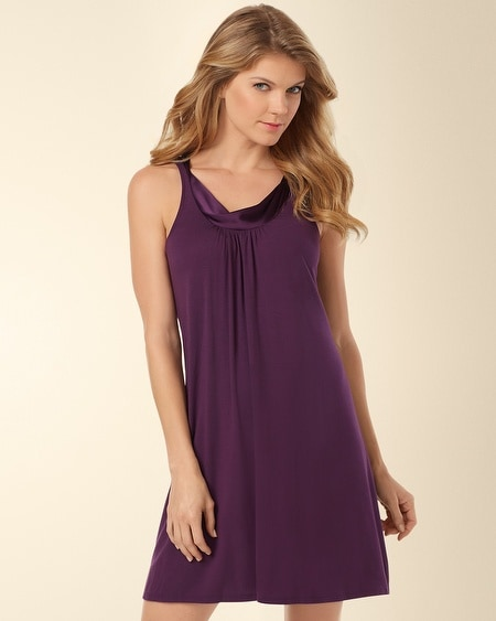 Forever and Always Sleep Chemise Aubergine