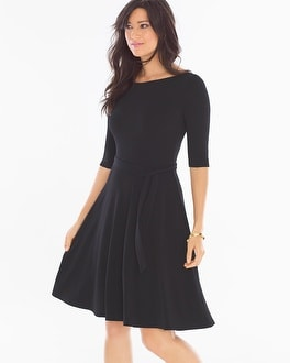Leota Ilana Scoop Back Short Dress Black
