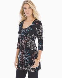Live. Lounge. Wear. Soft Jersey Wrapped Waist Tunic Free Spirit Multi