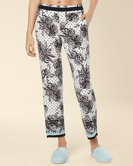 Ankle Pajama Pant Playful Lace Border