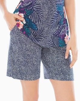 Cool Nights Bermuda Pajama Shorts Bali Dot Navy