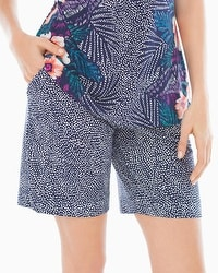Embraceable Cool Nights Bermuda Pajama Shorts Bali Dot Navy