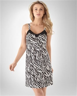 Embraceable Cool Nights Zebra Chemise