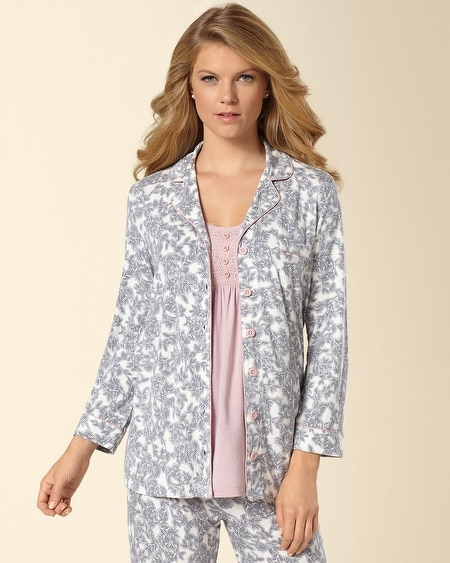 Notch Collar Pajama Top Ovation Ivory