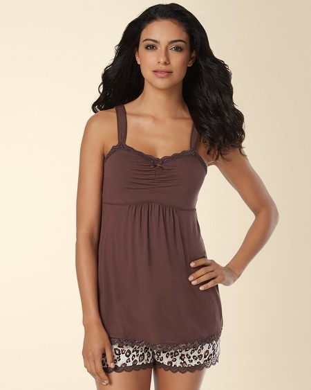 Lace Sleep Cami Raisin Brown