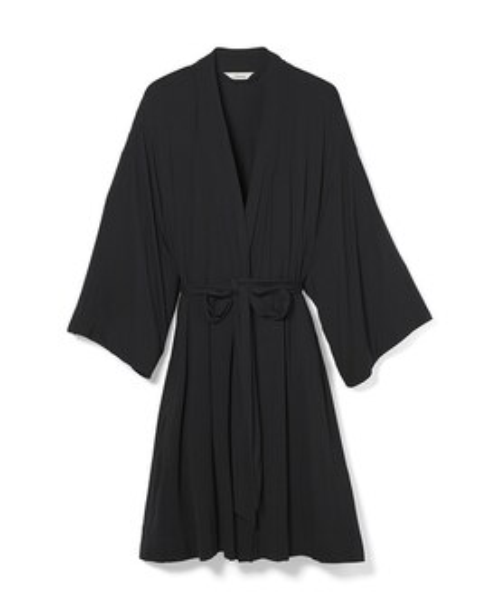 c483c04a1 Cool Nights Kimono Sleeve Short Robe Black