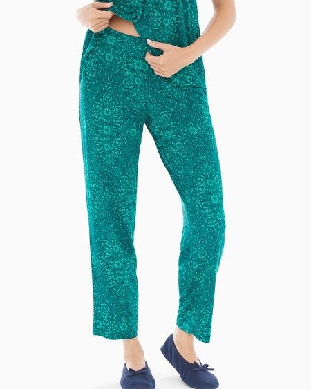 Ankle Pajama Pants Illumination Green Envy