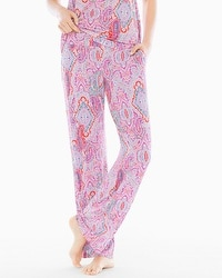 Embraceable Cool Nights Tall Pajama Pants Cape Paisley Rose Violet