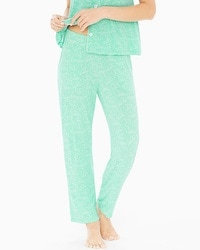 Cool Nights Pajama Pants Stay in Bed Pool Green RG