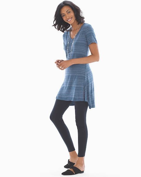 d25c7ee6bcf Return to thumbnail image selection Soft Jersey Short Sleeve Tunic Tee  Gentle Stripe Shadow
