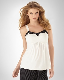 Embraceable Cool Nights Ivory/Black Cami