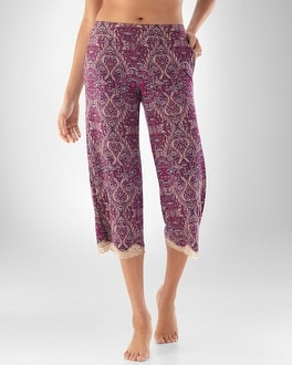 Embraceable Cool Nights Metropolitan Blackberry PJ Crop