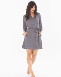 Cool Nights Short Robe Excalibur Grey