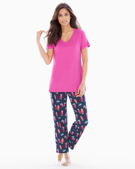 Ankle Pants Pajama Set Mai Tai Navy