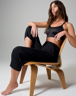 Cool Nights Crop Pajama Pants Black