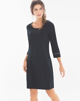 Embraceable 3/4 Sleeve Sleepshirt Black