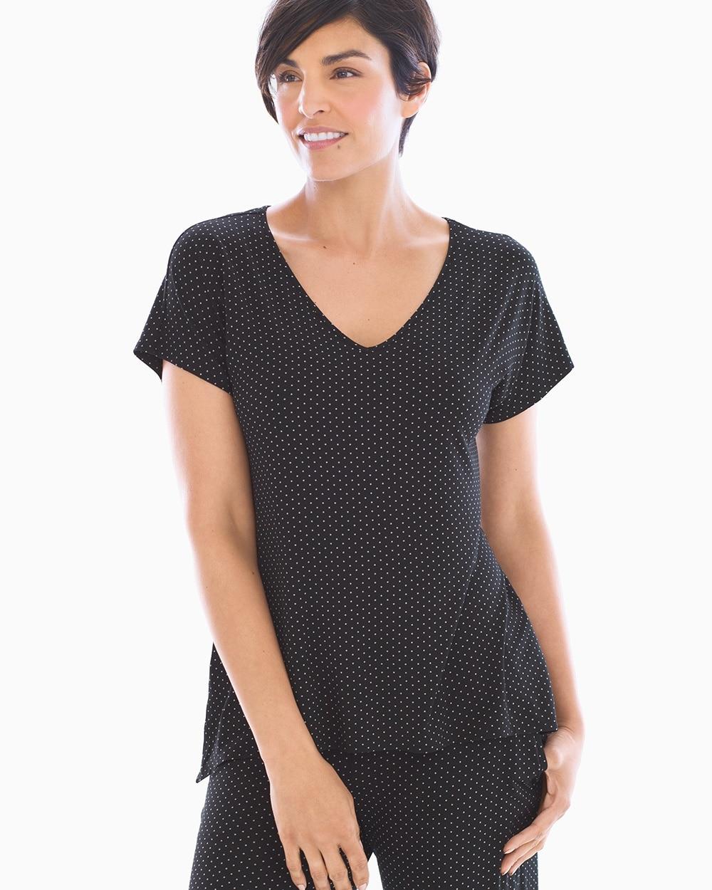 af8b57a07f Kimono Sleeve Short Robe Little Dot Black - Soma