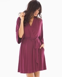 Cool Nights Short Robe Marsala