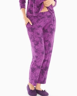 Cool Nights Ankle Pajama Pants Mademoiselle Rio Plum Black
