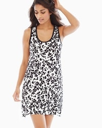 Cool Nights Sleeveless Sleepshirt Blissful Ivory Black