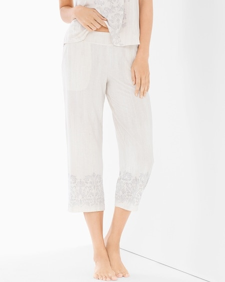 Crop Pajama Pants Sublime Scroll Gray
