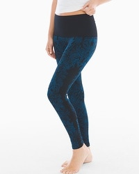 Live. Lounge. Wear. Slimming Legging Blossom Placement Poseidon