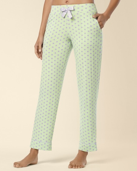 Ankle Pajama Pant Big Dot Pistachio