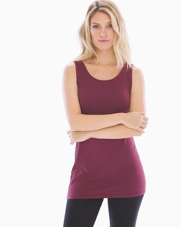 Pima Cotton Tunic Layering Tank Marsala