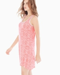 Embraceable Cool Nights Sleeveless Sleepshirt Island Scroll Coral Hype