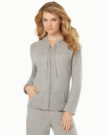 Cashmere Hoodie Heather Silver