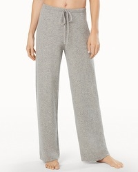 Arlotta Drawstring Cashmere Pants Heather Silver