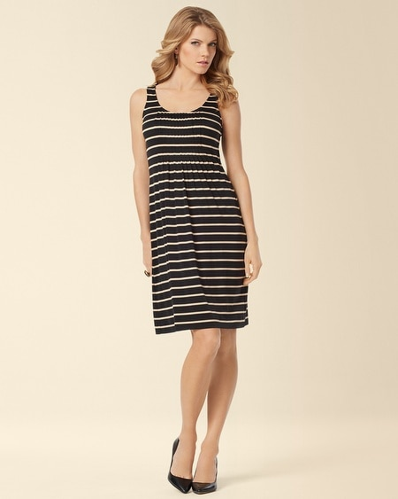 Nicole Short Dress Fundamental Stripe