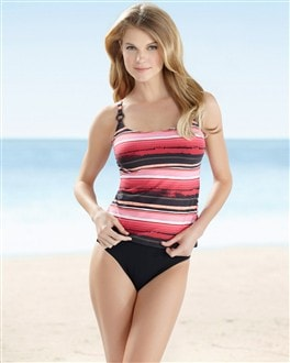 Captiva Bella Mar Tankini Top/ Sizes: 1X-3X