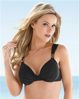 Natori Solid Full Coverage Bikini Top