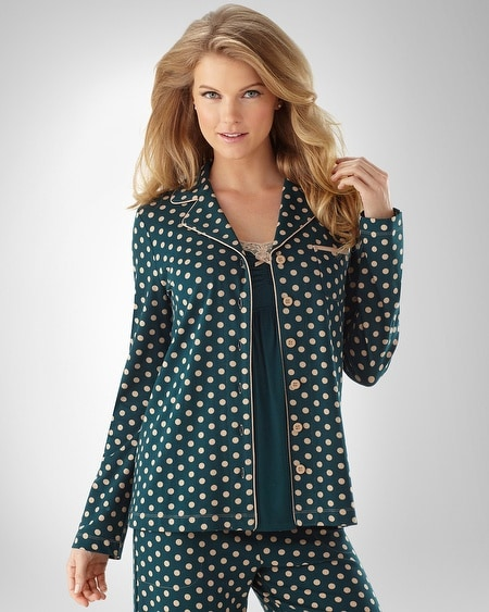 Big Dot Emerald PJ Top