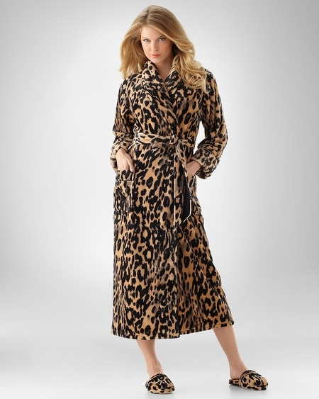 Uptown Leopard Natural Plush Robe
