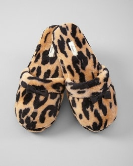 Embraceable Leopard Black Slippers