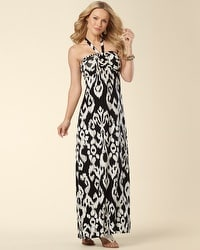 Adjustable Halter Knit Maxi Dress