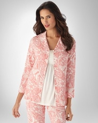 Embraceable Cool Nights Fantasy Paisley Carnation PJ Top