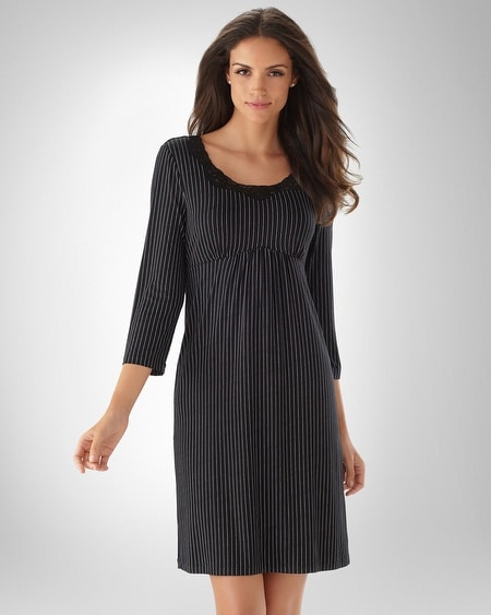Black Pinstripe Empire Sleepshirt